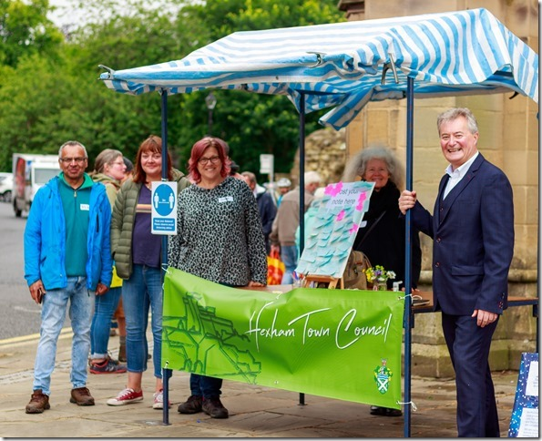 Hexham Town Council in the Market Place – Saturday 24 July