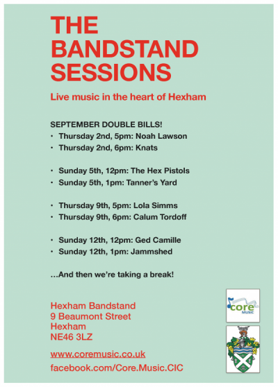 Final lineup for The Bandstand Sessions announced!